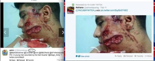 Δεξιά Δημοσιεύτηκε 11/2/2014 που αλλού; Βενεζουέλα. Τον πετσόκοψαν!!! Αριστερά Δημοσιεύτηκε 24/4/2013. Κάποιοι άνθρωποι είναι πολύ άτυχοι και τρώνε ακριβώς το ίδιο βρομόξυλο κάθε 10 μήνες